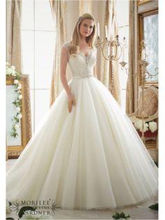 satin belt floor length mori lee 2875 wedding dress mori lee 2875 Mori lee