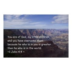 1 John 4:4 Print from Scripture Classics #zazzle #gift #photogift #Christian