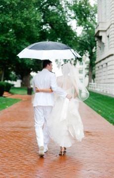 Cute Wedding Photo (Photo Captured by Krista A Jones via Bayside Bride)