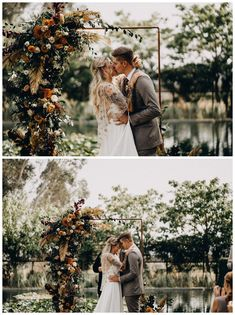 Hayley & Cody tied the knot earlier this year after after having to navigate the rescheduling & uncertainty of the pandemic but, wow, was the wait worth it! This bohemian dream wedding was full of warmth, texture, and so much love. Wedding Ceremony Arch, Wedding Backdrops, Ceremony Backdrop, Outdoor Ceremony, Wedding Ideas, Country Wedding Flowers, Bohemian Wedding Inspiration, Paper Backdrop, We Fall In Love