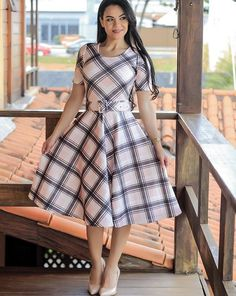 I think I will always love plaids. Has that touch of country to it. African Dresses For Kids, African Fashion Dresses, Fashion Outfits, Cute Dresses, Vintage Dresses, Short Dresses, Classy Outfits, Beautiful Outfits, Scottish Dress