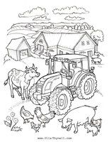 Farm Coloring Page | Worksheets, Farming and School
