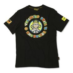 Valentino Rossi The Doctor T-Shirt Black  Description: VR-46 The Doctor Official T-Shirt specifications       include:                      Short sleeved                    Crew neck collar                    Front graphic logo                    Rear graphic logo                    100% cotton                    Official racing apparel...  http://bikesdirect.org.uk/valentino-rossi-the-doctor-t-shirt-black-3/