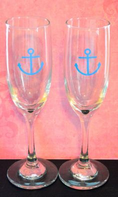 Custom Champagne Glasses by BrittsMonograms on Etsy, $10.00