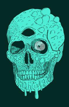 """""""Beetle Skull"""" Art Print"""