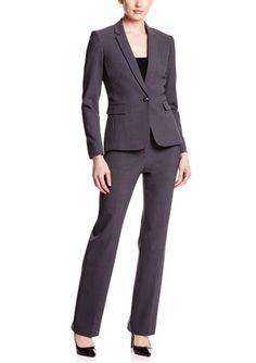 On ideel: TAHARI ARTHUR S. LEVINE Bi-Stretch Notch Collar Pant Suit