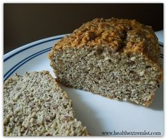 Paleo Bread Recipe Breads with coconut flour, almond flour, chia seeds, eggs, coconut oil, apple cider vinegar, sea salt, baking soda