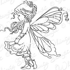 Fairy Rubber Stamps | WS; WEE - SILVER FAIRY
