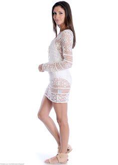 Outstanding Crochet: Crochet Tunic from Vestido Branco Curto.