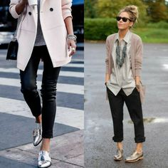 Casual Winter Outfits, Classic Outfits, Outfit Winter, Summer Outfits, Oxford Shoes Outfit, Tennis Shoes Outfit, Look Oxford, Casual Street Style, Work Casual
