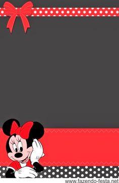 Minni in Red, Black and White Polka Dots Free Printable Mini Kit.