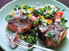 Give lamb chops a Greek twist with the addition of fresh oregano and a minty yogurt sauce. If you have trouble finding the right size lamb loin chops,