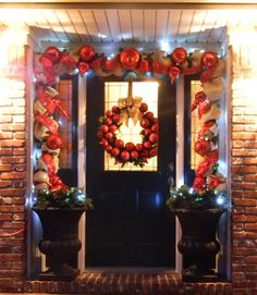 Southern Fried Gal: Christmas Door - How I Do It