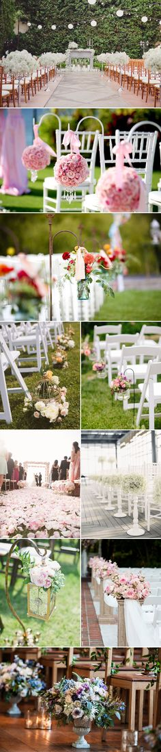 38 Chic and Romantic Ceremony Aisle Markers - Praise Wedding