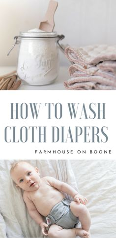 How to Wash Cloth Diapers- My Simple Natural Routine How to Wash Cloth Diapers my natural washing routine and a diy cloth diaper detergent recipe - Cloth Diapers - Ideas of Cloth Diapers Cloth Diaper Detergent, Wash Cloth Diapers, Diy Diapers, Reusable Diapers, Cloth Nappies, Newborn Cloth Diapering, Cloth Diaper Storage, Cloth Diaper Organization, Diy Laundry Detergent