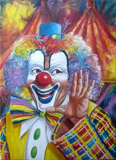"Oil on canvas 80 x 60 cm ""Clown II"""