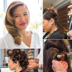 How to Create Polished, Sideswept Waves. Great for mixed or natural hair!
