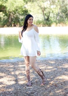 Gladiator sandals and a flowy top make a great combo for this Summer or festival season!