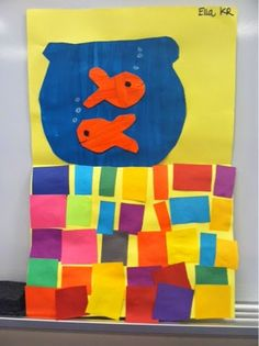 Matisse inspired fish bowls- kindergarten I could have them create a pattern with the squares at the bottom. Kindergarten Art Lessons, Kindergarten Art Projects, Art Lessons Elementary, Matisse Kunst, Matisse Art, Henri Matisse, Art Activities For Kids, Art For Kids, Activity Ideas