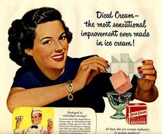 vintage strawberry diced ice cream 1949 advertisement