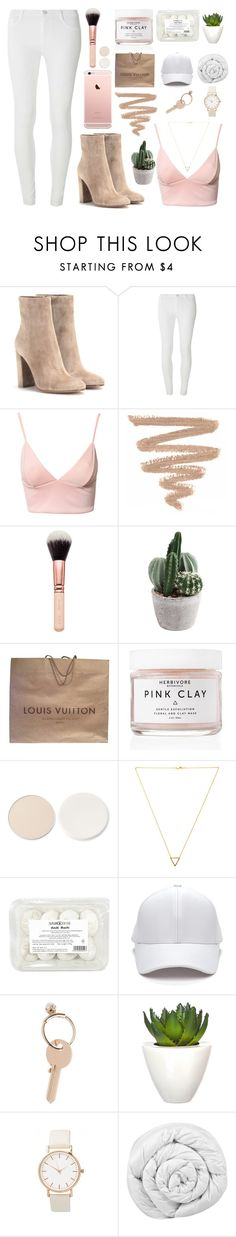 """""""I'm never gonna sleep alone."""" by bellaallmey ❤ liked on Polyvore featuring Gianvito Rossi, Dorothy Perkins, Dark Pink, Louis Vuitton, Herbivore, Stila, Wanderlust + Co, Maison Margiela, Pomax and Brinkhaus"""
