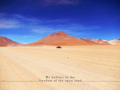 we believe in the freedom of the open road. www.explora.com