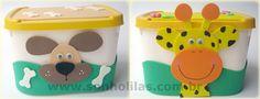 Bichinhos em potes de sorvete feito com eva - recycle