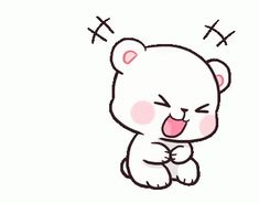 LINE Official Stickers - Milk & Mocha: Unstoppable Lovers Example with GIF Animation Cute Cartoon Images, Cute Couple Cartoon, Cute Love Cartoons, Cartoon Pics, Cute Cartoon Wallpapers, Cute Bear Drawings, Cute Cartoon Drawings, Kawaii Drawings, Cute Love Pictures
