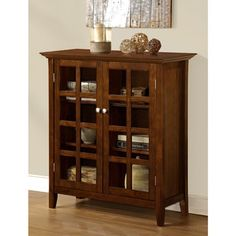 Normandy Tobacco Brown Medium Storage Media Cabinet & Buffet - Overstock™ Shopping - Great Deals on WyndenHall Media/Bookshelves $275