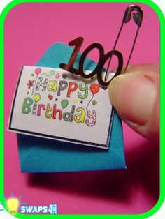"""""""HAPPY BIRTHDAY Girl Scout 100th Anniversary Card! SWAPS Girl Craft Kit - Swaps4Less"""""""