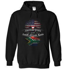 (Tshirt Amazing Deals) AMERICAN GROWN-SOUTH AFRICAN ROOTS Teeshirt Online Hoodies Tee Shirts