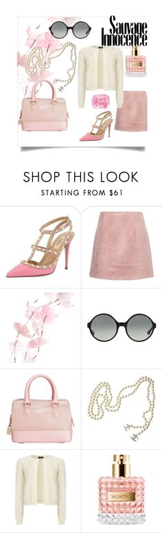 """""""Scream Queens!"""" by prisca95 ❤ liked on Polyvore featuring Valentino, Acne Studios, Maison Michel, Vogue Eyewear, Furla, Chanel, Wallis, Pink, doll and valentino"""