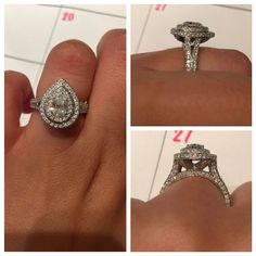 Neil Lane Pear Double Halo Engagement Ring -