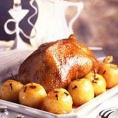 Oie rôtie aux pommes