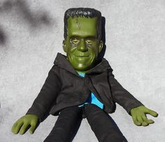 Vintage HERMAN MUNSTER DOLL Mattel FRANKENSTEIN Monster Toy 1964 Original Shoes! #Mattel