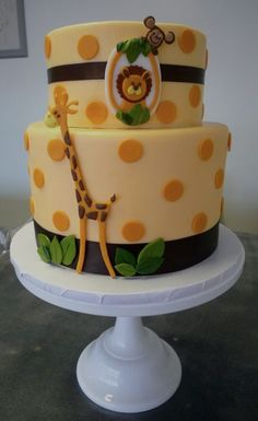Jungle Cake- Wish I would have had this idea last may when I threw my sisters baby shower! Would have been perfect :-)