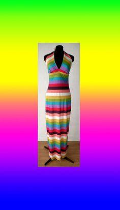 Bubble Gum Stripe Maxi Dress. $45.00, via Etsy.
