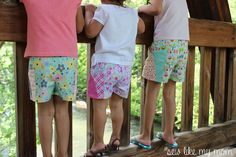Sew Like My Mom | Sycamore Shorts Free pattern 12m-8T