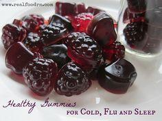 Healthy Gummies for Cold, Flu and Sleep. Healthy homemade gummy recipe that helps little ones sleep, while also boosting their immune system!