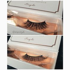 These gorgeous lashes are @esqido in the styles Amp It Up (Top) and Voila Lash (Bottom)