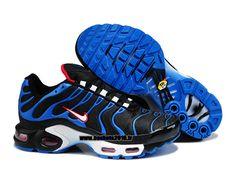 Nike Officiel Nike Air Max Tn Requin Tuned 2014 Chaussures Pas Cher Pour Homme Noir Bleu