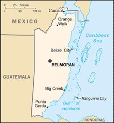 Country Maps: Belize Map