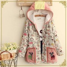 Buy Fairyland Deer Printed Hooded Jacket at YesStyle.com! Quality products at remarkable prices. FREE WORLDWIDE SHIPPING on orders over US$�35.