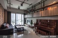 Loft風 珞石室內裝修有限公司 羅意淳、洪斐甄 (226642)-設計家 Searchome Conference Room, Flat Screen, Projects To Try, Engineering, Loft, Industrial, Ceiling, Cabinet, Living Room
