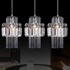 133.59$ Buy here - http://aliqbb.worldwells.pw/go.php?t=1929057016 - MAMEI Free Shipping 3 Lights High Quaity K9 Crystal Modern Pendant Light For Dinner Room 110-240V Voltage 133.59$
