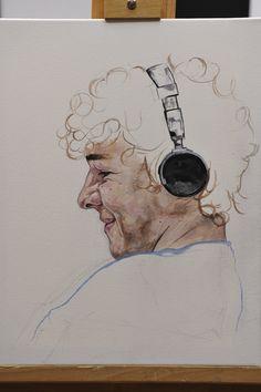 Sky Arts Portrait Artist of the Year 2014: Fifth Heat Winner (Edinborough) Sally Dyer's winning portrait of Daniel Roche