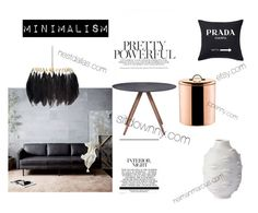 """""""blackinwhite"""" by estherkiss on Polyvore featuring interior, interiors, interior design, home, home decor, interior decorating, Jonathan Adler, West Elm, Mineheart and Old Dutch"""