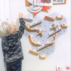 VertiPlay Marble Run blurs the line between learning and play. This unique wall toys easily affixes to the wall. Its modular design allows kids to hone their imagination and play in many different ways. It also helps declutter the floor!