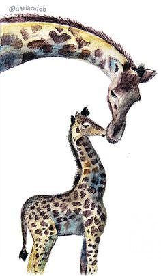 Giraffe illustration Giraffe Illustration, Animals, Animales, Animaux, Animal, Animais