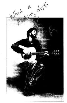 """Ray LaMontagne signed this photo of himself.  """"When Ray played in Indy, I asked for his autograph. He was very nervous. He graciously accepted. He handed this picture back to me. I wasn't sure what to make of it, until I learned a little bit more about him and his sense of humor/modesty. When I saw him again, I mentioned our previous meeting, and he said 'Yeah, I remember that, it's nice to see you again.' How incredibly humble and normal this gifted man is."""""""